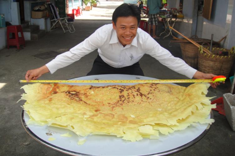 Hình ảnh bánh xèo Mười Xiềm ở nước ngoài